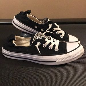 All Star Black/White Slip on Converse Shoes